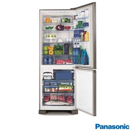 Refrigerador 2 Portas 423L Frost Free 110V Panasonic - NRBB51PV1X + Telefone sem Fio DECT 6.0, Preto - KXTG1371, 0, De 351 a 500 litros