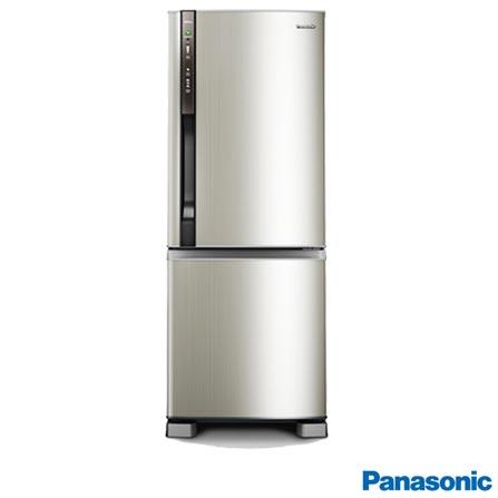Refrigerador 2 Portas 423L Frost Free 220V Panasonic - NRBB51PV1X + Telefone sem Fio DECT 6.0, Preto - KXTG1371, 0, De 351 a 500 litros