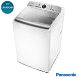 Lavadora de Roupas Panasonic 16kg Branca com 9 Programas de Lavagem, Econavi e Espuma Ativa - NA-F160P5W