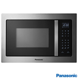 Micro-ondas de Embutir Panasonic Style Grill com 30 Litros de Capacidade e Grill Inox e Black Glass - NNGT682SRU