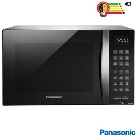 Forno Micro-ondas Style Grill Panasonic com Capacidade de 30 Litros e Grill Inox - NN-GT684SRU, 110V, 220V, Inox, Mesa, Acima de 30 litros, 30 Litros, Aço Inox, Sim, Sim, 10, Sim, 900 W, A, Não especificado, 12 meses