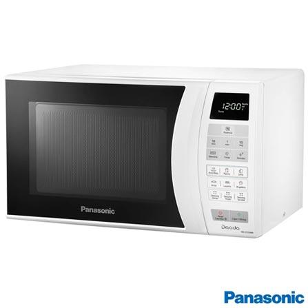 Forno Micro-ondas Panasonic com Capacidade de 21 Litros Branco - NN-ST254WRU, 110V, 220V, Branco, Mesa, De 21 a 29 litros, 21 Litros, Não especificado, Não, Não, 10, Sim, 700 W, A, Não especificado, 12 meses
