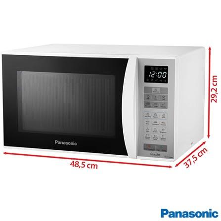 Forno Micro-ondas Panasonic com Capacidade de 25 Litros Branco - NN-ST354WRU, 110V, 220V, Branco, Mesa, De 21 a 29 litros, 25 Litros, Não especificado, Não, Não, 08, Sim, 800 W, A, Não especificado, 12 meses