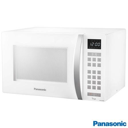 Forno Micro-ondas Style Panasonic com Capacidade de 32 Litros - NN-ST654WRU, 110V, 220V, Branco, Mesa, Acima de 30 litros, 32 Litros, Não especificado, Não, Não, 10, Sim, 900 W, A, Não especificado, 12 meses