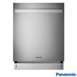 Lava-Louças de Embutir Panasonic Inox com 15 Serviços, 08 Programas de Lavagem e Painel Easy Touch - NP-6M2FTKBRP