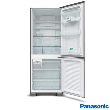 Refrigerador Bottom Freezer Panasonic de 02 Portas Frost Free com 423 Litros Painel Eletrônico Aço Escovado - NRBB52PV2X, 110V, 220V, Inox, Freezer Invertido, 02 Portas, Não, De 141 a 350 litros, 423 Litros, 303 Litros, 120 Litros, Sim, Não, Sim, Sim, Não, Não, Não, Sim, Sim, 01, Vidro temperado removíveis, Não, Não, Sim, Sim, A, 39,9 kWh/mês, 12 meses