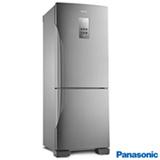 Refrigerador Bottom Freezer Panasonic de 02 Portas Frost Free com 425 Litros e Painel Easy Touch Aço Escovado - BB53