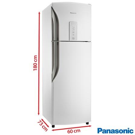 Refrigerador de 02 Portas Panasonic ReGeneration Frost Free com 387 Litros com Inverter Branco - NR-BT42BV1W, 110V, 220V, Branco, 02 Portas, 02 Portas, Não, De 351 a 500 litros, 387 Litros, 292 Litros, 95 Litros, Sim, Sim, Sim, Sim, Não, Não, Não, Não, Não, 01, Vidro Temperado e Plástico, Não, Não, Sim, Sim, A, 31 kWh/mês, 12 meses