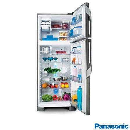 Refrigerador Botton Freezer de 02 Portas Frost Free Panasonic com Capacidade de 435 Litros Inox - NRBT48PV1X, 110V, 220V, Aço Escovado, Freezer Invertido, 02 Portas, Não, De 351 a 500 litros, 435 Litros, 333 Litros, 102 Litros, Sim, Não, Sim, Sim, Não, Não, Não, Sim, Sim, 04, Vidro temperado removíveis, Não, Não, Sim, Sim, A, 39 kWh/mês, 12 meses