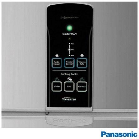 Refrigerador de 02 Portas Frost Free Panasonic com 483 Litros Inox - BT54, 110V, 220V, Aço Escovado, 02 Portas, 02 Portas, Não, De 351 a 500 litros, 368 Litros, 483 Litros, 115 Litros, Sim, Sim, Não, Sim, Sim, Não se aplica, Não, Não, Sim, Não especificado, Vidro temperado, Não, Não, Sim, Não especificado, A, 45 kWh, 12 meses