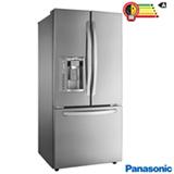 Refrigerador French Door Panasonic de 03 Portas Frost Free 592 Litros e Painel Eletrônico, Aço Escovado - NR-CB74PV1X