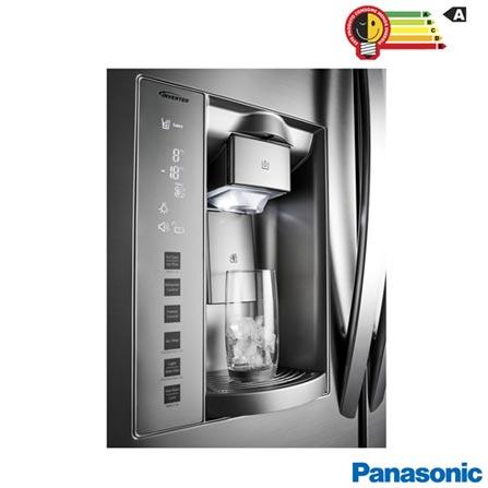 Refrigerador French Door Panasonic de 03 Portas Frost Free 592 Litros e Painel Eletrônico, Aço Escovado - NR-CB74PV1X, 110V, 220V, Aço Escovado, French Door, 03 Portas, Não, Acima de 500 litros, 592 Litros, 441 Litros, 151 Litros, Sim, Sim, Sim, Sim, Não, Sim, Sim, Sim, Sim, 03, Não especificado, Não, Não, Não, Sim, A, 61,3 kWh/mês, 12 meses