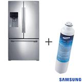 Refrigerador French Door 03 Portas Samsung com 589 Litros Inox 110V + Refil de Filtro de Água Samsung - HAF-CIN/XME