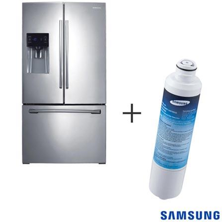 Refrigerador French Door 03 Portas Samsung com 589 Litros Inox 110V + Refil de Filtro de Água Samsung - HAF-CIN/XME, 0, Acima de 500 litros