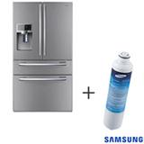 Refrigerador French Door 04 Portas Samsung com 614 Litros Inox 110V + Refil de Filtro de Água Samsung - HAF-CIN/XME