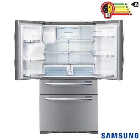 French Door Samsung 04 Portas e 614 Litros Inox - RFG28MESL + Galaxy S7 Dourado, 5.1, 4G, 32 GB e 12 MP - SM-G930F, 0, Acima de 500 litros