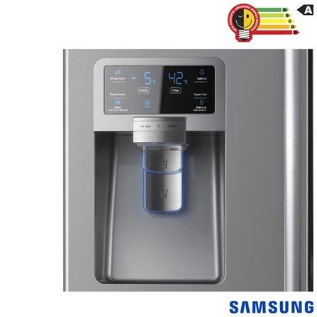 French Door Samsung 04 Portas e 614 Litros Inox - RFG28MESL + Galaxy S7 Prata, 5.1, 4G, 32 GB e 12 MP - SM-G930F, 0, Acima de 500 litros