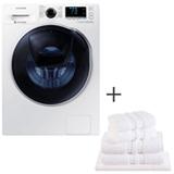Lava & Seca 10,2Kg Samsung Eco Bubble Branco 110V - WD10K6410OW + Jogo de Toalhas de Banho, 5 Pecas Branco Buddemeyer