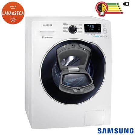 Lava & Seca 10,2Kg Samsung Eco Bubble Branco 220V - WD10K6410OW + Jogo de Toalhas de Banho, 5 Pecas Branco Buddemeyer, 1