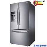 Refrigerador French Door Samsung de 03 Portas Frost Free com 536 Litros com Auto Ice Maker Inox - RF23HCEDBSR