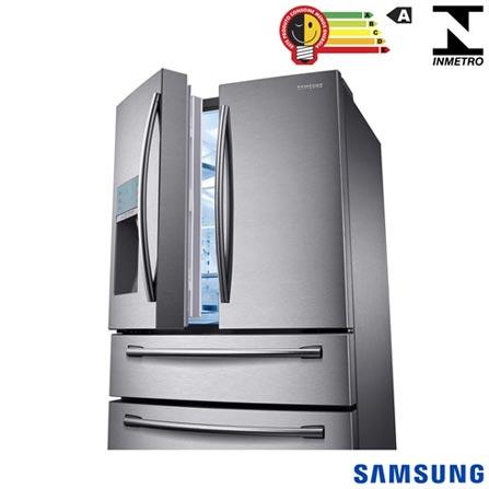 Refrigerador French Door Sparkling de 4 Portas Frost Free Samsung com 632 Litros Inox - RF31FMESBSL, 110V, Inox, Acima de 500 litros, 632 Litros, 164 Litros, 468 Litros, 66 kWh/mês, Sim, Sim, Sim, 04 Portas, French Door, A