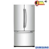Refrigerador French Door Samsung de 03 Portas com 441 Litros Twin Cooling Inox e Cinza - RF62HERS1