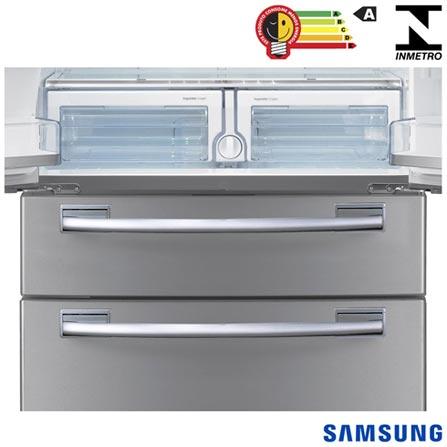 Refrigerador French Door Samsung de 04 Portas Frost Free com 614 Litros Painel Eletronico Inox - RFG28MESL, 110V, Inox, De 351 a 500 litros, 614 Litros, 161 Litros, 453 Litros, 75 kWh/mês, Sim, Sim, Sim, 04 Portas, French Door, A