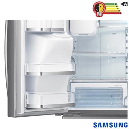 Refrigerador French Door Samsung de 04 Portas Frost Free com 614 Litros Painel Eletrônico Inox - RFG28MESL, 110V, Inox, De 351 a 500 litros, 614 Litros, 161 Litros, 453 Litros, 75 kWh/mês, Sim, Sim, Sim, 04 Portas, French Door, A