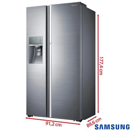 Refrigerador Food Showcase de 3 Portas Frost Free Samsung com 765 Litros Inox - RH77H90507H, 110V, Inox, Acima de 500 litros, 765 Litros, 254 Litros, 511 Litros, 63,6 kWh/mês, Sim, Sim, Sim, 03 Portas, French Door, A