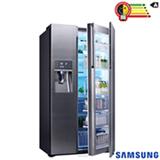 Refrigerador Food Showcase de 3 Portas Frost Free Samsung com 765 Litros Inox - RH77H90507H