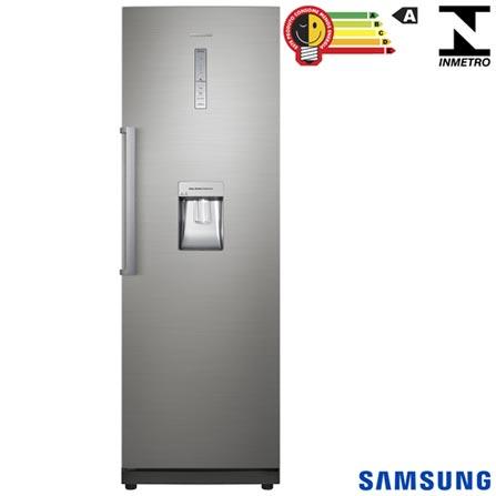 Refrigerador de 01 Porta Frost Free Samsung com 348 Litros Inox - RR35H66107F/AZ, 110V, Inox, 01 Porta, 01 Porta, Não, De 141 a 350 litros, 348 Litros, 348 Litros, Não se aplica, Sim, Sim, Não especificado, Não, Não especificado, Não, Sim, Não, Não, Não especificado, Removíveis, Não, Não, Não, Não especificado, A, 37,1 kWh/mês, 12 meses