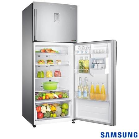 Refrigerador de 02 Portas Samsung Frost Free com 458 Litros Inox - RT46H5351SL, 110V, 220V, Inox, 02 Portas, 02 Portas, Não, De 351 a 500 litros, 458 Litros, 346 Litros, 112 Litros, Sim, Sim, Sim, Sim, Não, Não se aplica, Não, Não, Sim, 03, Vidro, Não, Sim, Não, Sim, A, Não especificado, 12 meses