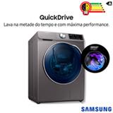 Lava & Seca 10,2 Kg Samsung QDrive com Smart Control, AddWash, Inox, 14 Programas de Lavagem - WD10N64FOOX