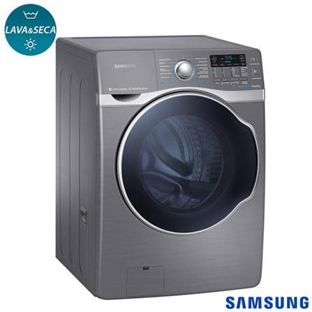 Lava & Seca 15 Kg Samsung Look Eco Bubble Inox com 13 Programas de Lavagem - WD15H7300KP, 110V, Inox, Frontal, Acima de 10 kg, 15 kg, 08 kg, 1,66 kWh, 111 Litros, Não especificado, Sim, Sim, Sim, Sim, Elétrica, 12 meses, Sim, Não, Não especificado, Eletrônico, 13, 05, Lava-Seca, Sim, 1100 rpm, A