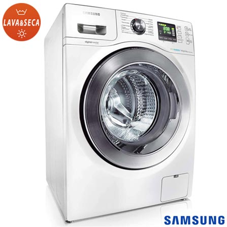 Lava & Seca 8,5 Kg Samsung Seine Eco Bubble Branca - WD856UHSAWQ, 110V, 220V, Branco, Frontal, De 7 kg a 9 kg, 8,5 kg, 04 kg, Não especificado, Não especificado, Não especificado, Sim, Sim, Sim, Não especificado, Elétrica, 12 meses, Sim, Sim, Aço Inox, Manual, Não especificado, Não especificado, Não especificado, Lava-Seca, Sim, Não especificado, A