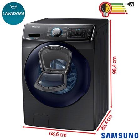 Lavadora de Roupas Samsung AddWash 15 Kg Prata com 13 Programas de Lavagem e EcoBubble - WF15K6500AV/AZ, 110V, Não se aplica, Frontal, Acima de 10 kg, 15 kg, Não se aplica, Não especificado, 126,7 Litros, Não, Sim, Sim, Sim, Sim, Elétrica, 12 meses, Sim, Não, Aço Inox, Eletrônico, 13, Não se aplica, Lavadora, Sim, 1200 rpm, A