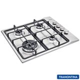 Cooktop a Gás Tramontina Square 4GX Tri 60 com 04 Bocas, Acendimento Super Automático Inox - 94701/214