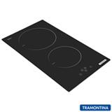 Cooktop Dominó por Indução Tramontina em Vitrocerâmico com 02 Bocas, 09 Níveis de Potência e  Preto - 94750/220
