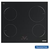 Cooktop por Indução Tramontina New Square Touch B 4EI 60 Vitrocerâmico, 04 Bocas, 09 Níveis de Potência - 94751/220