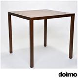 Mesa de Jantar quadrada Easy 80 Castanho Escuro - Doimo