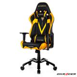 Cadeira Valkyrie Giratória e Reclinável Preta e Dourada - DXRacer
