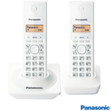 Telefone Sem Fio Panasonic DECT 6.0, 1.9GHz, Branco KXTG1712LBW