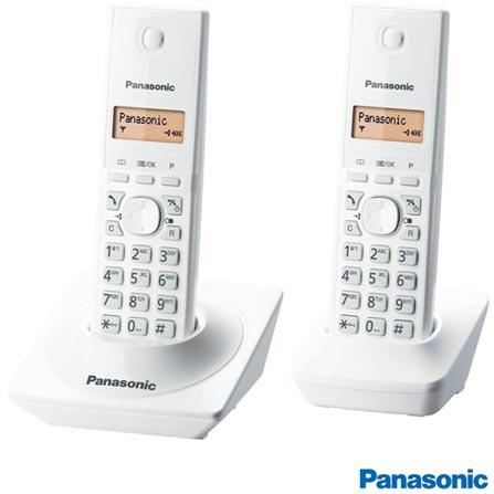 Telefone Sem Fio Panasonic DECT 6.0, 1.9GHz, Branco KXTG1712LBW, Bivolt, Bivolt, Branco, Sim, 12 meses, Sim, 01, Não, Não, Não