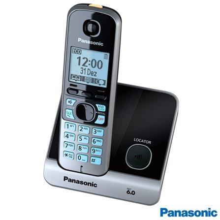 Telefone sem Fio Panasonic DECT 6.0 com Identificador de Chamadas, Viva Voz, Preto - KXTG6711, Bivolt, Bivolt, Preto, Não, Sim, Sim, Sim, Não possui, Não, 12 meses