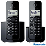 Telefone Sem Fio Panasonic com 01 Ramal, Display LCD e Identificador de Chamadas - KX-TGB112LBB