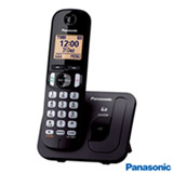 "Telefone sem  Fio Panasonic Dect.6, Identificador de Chamadas, Teclado Luminoso, Display 1.6"", Preto - KX-TGC210LBB"