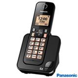 """Telefone sem Fio Panasonic com Display de 1,6"""", Viva-voz e Identificador de Chamadas Preto - KX-TGC350LBB"""