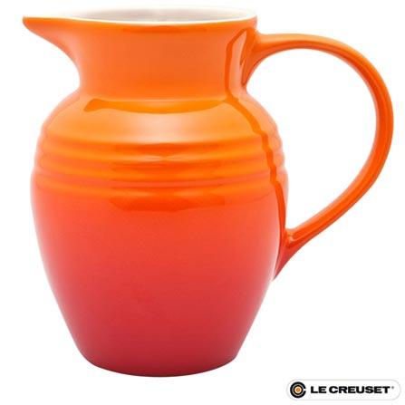 Jarra para Suco Le Creuset com Capacidade de 2 Litros em Cerâmica Stoneware, Laranja, Cerâmica, 2 L, 60 meses