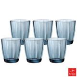 Conjunto de Copos Bormioli Pulsar em Vidro com 390 ml de Capacidade Azul
