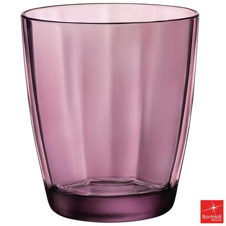 Conjunto de Copos Bormioli Pulsar em Vidro com 390 ml de Capacidade Roxo, Roxo, Vidro, 06 Peças, 390 ml, 03 meses